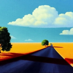 The Long Way - Oil on Linen 12 x 24 Museum Wrapped