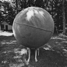 Boy With Giant Ball - Albany, New York, 1972