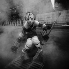 Hockey Player - New York City, 1970 16x20