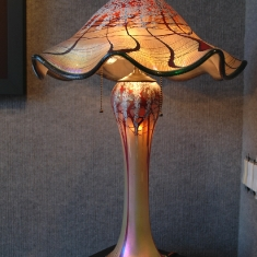 Large Luster Lamp - Blown Glass