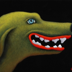 Good Dog - Acrylic on Board 9 x 12