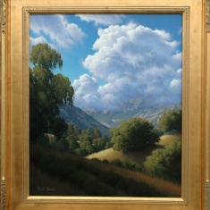Gaviota Hillside SOLD - Oil on Linen 31 x 27 Framed