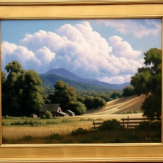 Late Afternoon Clouds SOLD - Oil on Canvas 27 x 33 Framed