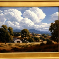 Long Shadows SOLD - Oil on Canvas 28 x 34 Framed