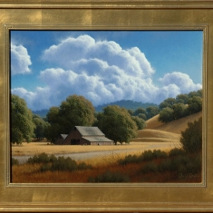 Old Farmstead- SOLD - Oil on Canvas Framed 26 x 22