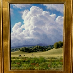 Springtime Grazing SOLD - Oil on Canvas 22 x 26 Framed