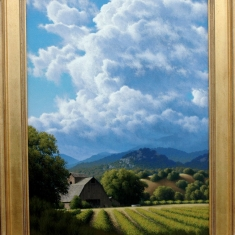 Vineyard Arroyo  SOLD - Oil on Linen 31 x 42.5 Framed