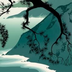 Quiet Evening - Silkscreen 6x8 unframed