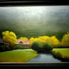 After the Rain - Oil on Panel 29.5 x 37.5 Framed