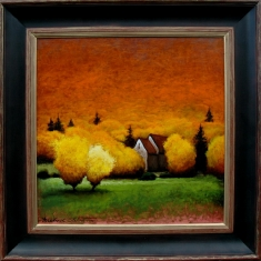 Aspens-Mellow Yellow SOLD - Oil on Panel Framed 25 x 30