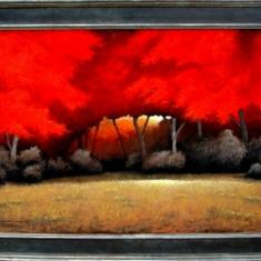 Dragons Breath - 57 x 38 Oil on Panel Framed