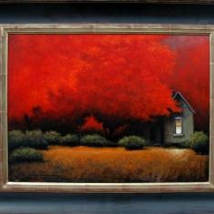 Night Light SOLD - Oil on Panel Framed