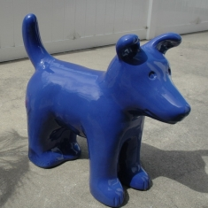 Blue Dog - 75 Pounds Ceramic Outdoor or Indoor