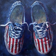 And Blue - Oil on Canvas 58 x 48