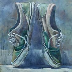 En Pointe Vans SOLD - Oil on Canvas 36 x 34