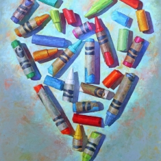 Heart Of Color SOLD - Oil on Canvas 58 x 48