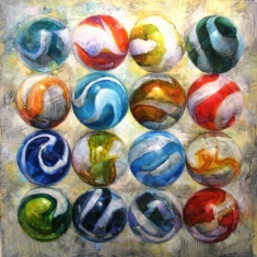 Marble Haze SOLD - 50 x 48 Oil on Canvas