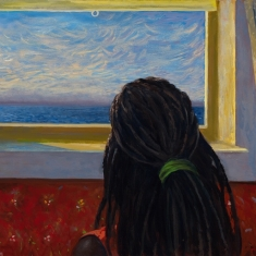 Girl in Window - Oil on Canvas $6,000
