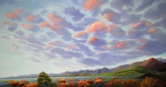 The Persistence of Undeniable Beauty - Original Oil on Canvas Museum Wrapped 40 x 74 x 3