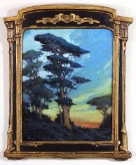 A Blues Affair - Oil on Linen 12 x 15 Custom Vintage Frame