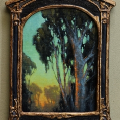 A Gaze Beyond - Oil on Linen 9.5 x 12.5  Deco Frame